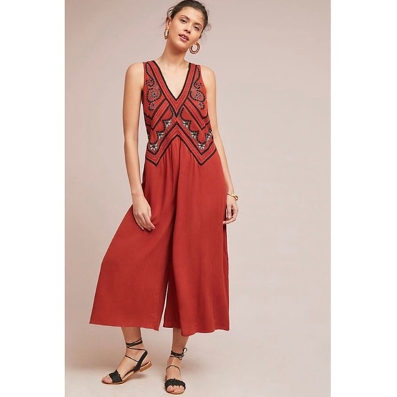 3e783dca4442 Anthropologie Pants | Maeve Wideleg Desert Jumpsuit Nwt | Poshmark